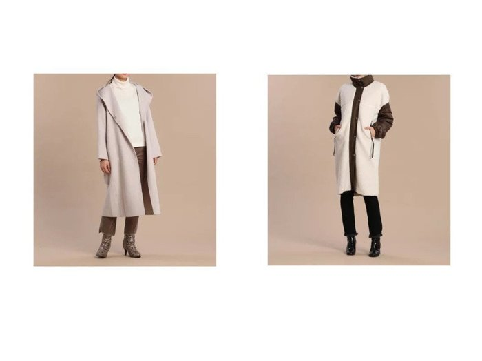 【INED/イネド】の《Luftrobe》ボアコート&《Luftrobe》フーデットリバーコート アウターのおすすめ!人気、レディースファッションの通販 おすすめファッション通販アイテム レディースファッション・服の通販 founy(ファニー) ファッション Fashion レディース WOMEN アウター Coat Outerwear コート Coats エレガント ショール ポケット リラックス スポーティ フロント ブランケット  ID:crp329100000001753