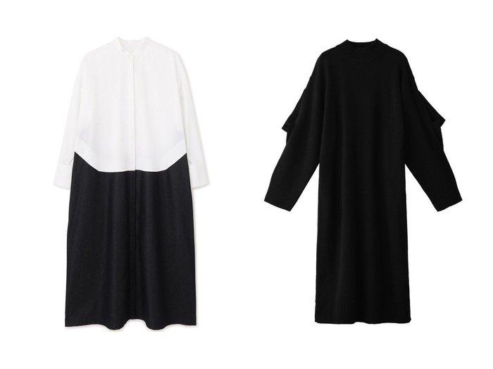 【LE CIEL BLEU/ルシェル ブルー】のアシンメトリーニットドレス&【LE PHIL/ル フィル】のデニムコンビワンピース ワンピース・ドレスのおすすめ!人気、レディースファッションの通販 おすすめファッション通販アイテム レディースファッション・服の通販 founy(ファニー) ファッション Fashion レディース WOMEN ワンピース Dress ドレス Party Dresses リラックス ロング  ID:crp329100000001803