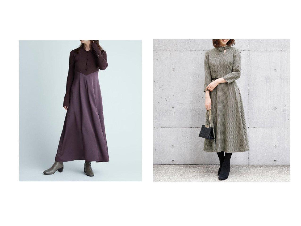 【FRAY I.D/フレイ アイディー】のポロカラーニットコンビワンピ&【ICHIE/イチエ】のプルック千鳥 ワンピース ワンピース・ドレスのおすすめ!人気、レディースファッションの通販 おすすめで人気のファッション通販商品 インテリア・家具・キッズファッション・メンズファッション・レディースファッション・服の通販 founy(ファニー) https://founy.com/ ファッション Fashion レディース WOMEN ワンピース Dress ヴィンテージ コンビ サテン スマート ドッキング フィット エレガント 切替 スリット フォーマル リボン |ID:crp329100000001806
