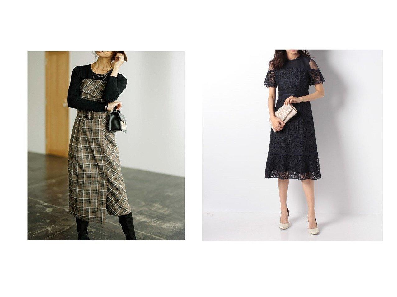 【Apuweiser-riche/アプワイザーリッシェ】の【Apuweiser Luxe】レース切り替えドレス&【JUSGLITTY/ジャスグリッティー】のチェックベアワンピース ワンピース・ドレスのおすすめ!人気、レディースファッションの通販 おすすめで人気のファッション通販商品 インテリア・家具・キッズファッション・メンズファッション・レディースファッション・服の通販 founy(ファニー) https://founy.com/ ファッション Fashion レディース WOMEN ワンピース Dress ドレス Party Dresses チェック フェミニン エレガント チュール ドレス レース |ID:crp329100000001814