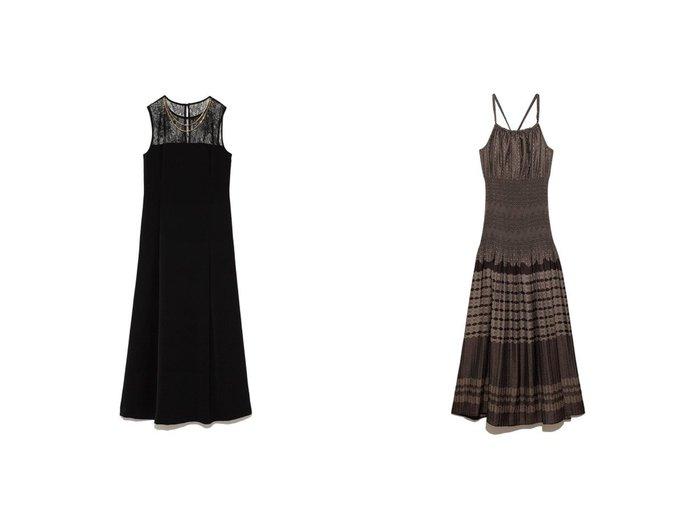 【Lily Brown/リリーブラウン】の[L.B CANDY STOCK]レース切替ロングドレス&ジャガードワンピース ワンピース・ドレスのおすすめ!人気、レディースファッションの通販 おすすめファッション通販アイテム インテリア・キッズ・メンズ・レディースファッション・服の通販 founy(ファニー) https://founy.com/ ファッション Fashion レディース WOMEN ワンピース Dress ドレス Party Dresses アクセサリー エレガント クラシカル 切替 サテン スワロフスキー ドレス ネックレス レース ロング インナー フィット フレア ラップ リゾート  ID:crp329100000001846