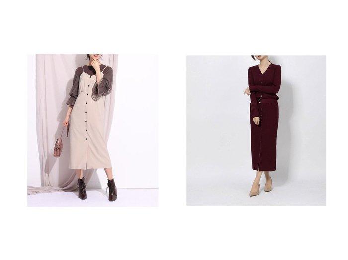 【Mystrada/マイストラーダ】のVネックリブタイトニットワンピース&【Rirandture/リランドチュール】の2WAYキャミワンピース ワンピース・ドレスのおすすめ!人気、レディースファッションの通販 おすすめファッション通販アイテム レディースファッション・服の通販 founy(ファニー) ファッション Fashion レディース WOMEN ワンピース Dress キャミワンピース No Sleeve Dresses ニットワンピース Knit Dresses キャミワンピース リボン シューズ スマート フロント |ID:crp329100000001852