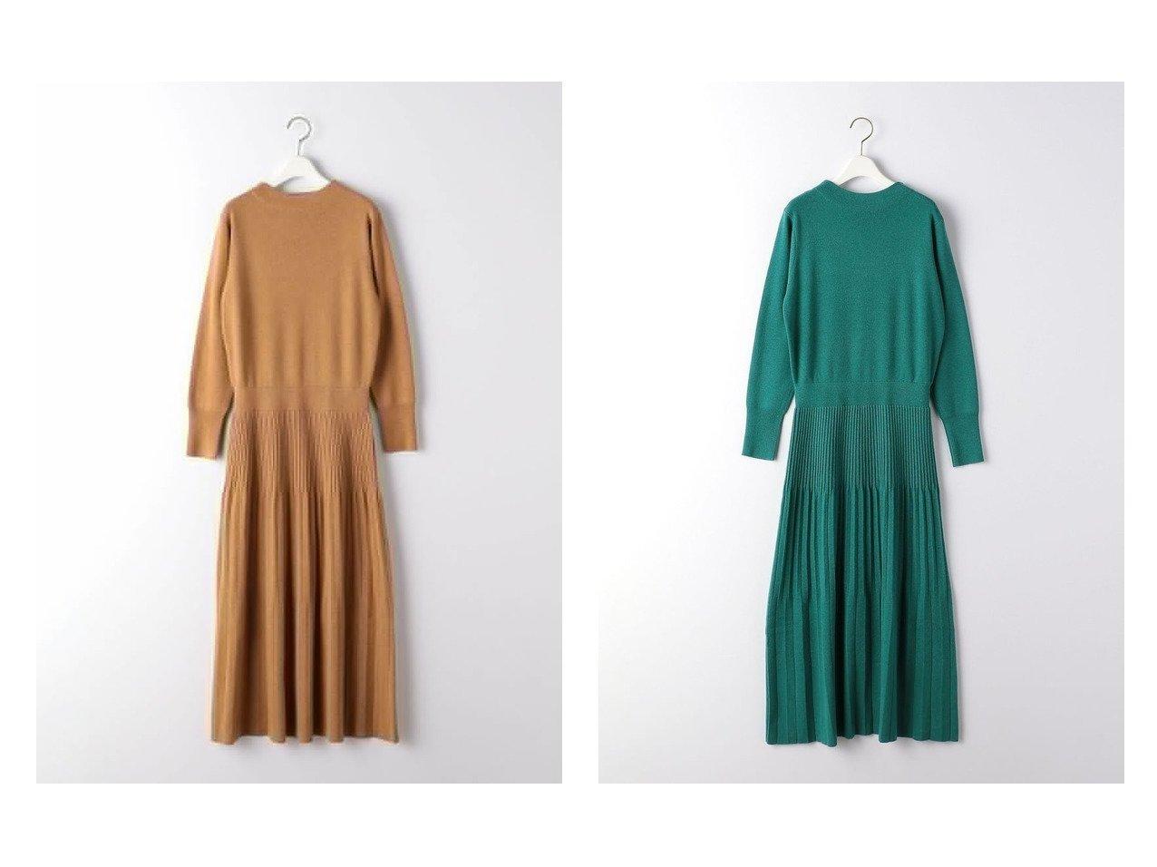 【UNITED ARROWS green label relaxing/ユナイテッドアローズ グリーンレーベル リラクシング】のFFC プリーツ スカート ニット ワンピース ワンピース・ドレスのおすすめ!人気、レディースファッションの通販 おすすめで人気のファッション通販商品 インテリア・家具・キッズファッション・メンズファッション・レディースファッション・服の通販 founy(ファニー) https://founy.com/ ファッション Fashion レディース WOMEN ワンピース Dress ニットワンピース Knit Dresses スカート Skirt プリーツスカート Pleated Skirts フィット フレア プリーツ 春 秋 長袖 |ID:crp329100000001864