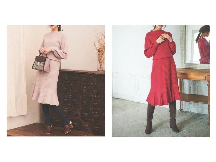 【31 Sons de mode/トランテアン ソン ドゥ モード】のHNリラックスフレアニットワンピース ワンピース・ドレスのおすすめ!人気、レディースファッションの通販 おすすめファッション通販アイテム インテリア・キッズ・メンズ・レディースファッション・服の通販 founy(ファニー) https://founy.com/ ファッション Fashion レディース WOMEN ワンピース Dress ニットワンピース Knit Dresses アクセサリー イヤーカフ エレガント 秋 ガーリー キャップ シューズ シンプル スリーブ 定番 ネックレス ハイネック フェミニン フレア プリーツ モックネック ロング ローズ 秋冬 A/W Autumn/ Winter 冬 Winter |ID:crp329100000001865