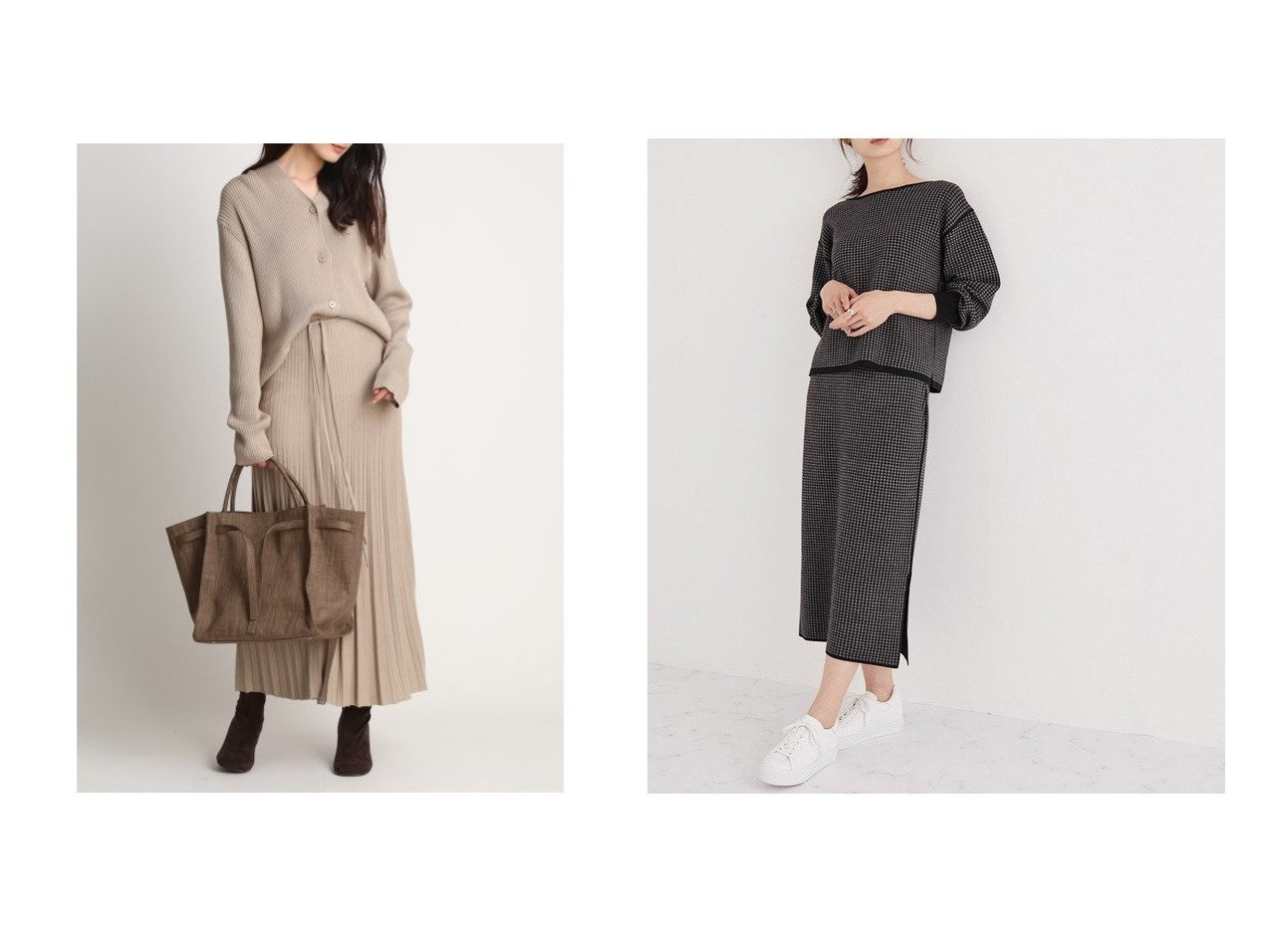 【ROPE/ロペ】の【20AW】8WAY千鳥柄ニットセットアップ&【Mila Owen/ミラオーウェン】のリブニットカーデSETUP ワンピース・ドレスのおすすめ!人気、レディースファッションの通販 おすすめで人気のファッション通販商品 インテリア・家具・キッズファッション・メンズファッション・レディースファッション・服の通販 founy(ファニー) https://founy.com/ ファッション Fashion レディース WOMEN トップス Tops Tshirt ニット Knit Tops セットアップ Setup トップス Tops カーディガン スマート セットアップ プリーツ リボン 秋冬 A/W Autumn/ Winter アクセサリー リバーシブル 無地 |ID:crp329100000001871