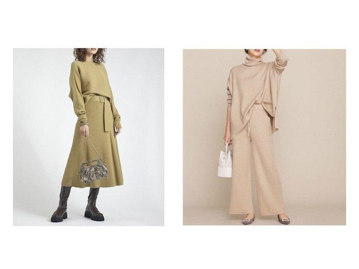 【nano universe/ナノ ユニバース】の撥水コーティング セットアップニット&【Mila Owen/ミラオーウェン】のベルト付横編みニットセットアップ ワンピース・ドレスのおすすめ!人気、レディースファッションの通販 おすすめファッション通販アイテム レディースファッション・服の通販 founy(ファニー) ファッション Fashion レディース WOMEN トップス Tops Tshirt ニット Knit Tops カットソー Cut and Sewn ベルト Belts セットアップ Setup カットソー セットアップ セパレート ベーシック リブニット コーティング シンプル ストレッチ タートルネック ポケット ポンチョ リラックス ワイド |ID:crp329100000001874