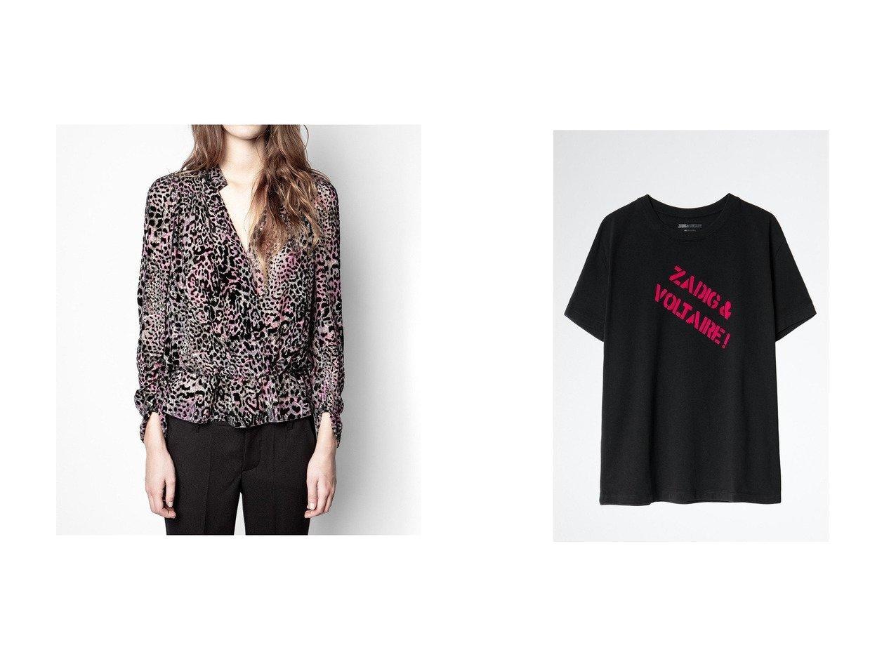 【ZADIG & VOLTAIRE/ザディグ エ ヴォルテール】のDYMA ZV BACKSTAGE T-SHIRT COTON FLOCK Tシャツ&TORI VELOURS DEVORE TOP CACHE COEUR ブラウス トップス・カットソーのおすすめ!人気、レディースファッションの通販 おすすめで人気のファッション通販商品 インテリア・家具・キッズファッション・メンズファッション・レディースファッション・服の通販 founy(ファニー) https://founy.com/ ファッション Fashion レディース WOMEN トップス Tops Tshirt シャツ/ブラウス Shirts Blouses ベロア Velour カットソー Cut and Sewn スリーブ ロング ショート |ID:crp329100000001884