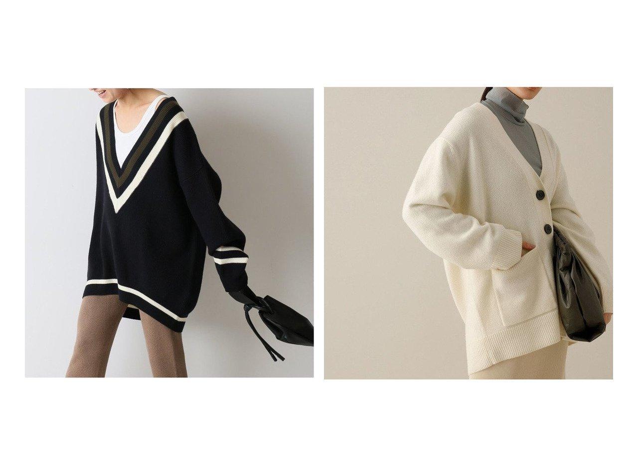 【FRAMeWORK/フレームワーク】のオーバーサイズチルデン&【Adam et Rope/アダム エ ロペ】のカシミヤ混オーバーカーディガン トップス・カットソーのおすすめ!人気、レディースファッションの通販 おすすめで人気のファッション通販商品 インテリア・家具・キッズファッション・メンズファッション・レディースファッション・服の通販 founy(ファニー) https://founy.com/ ファッション Fashion レディース WOMEN トップス Tops Tshirt ニット Knit Tops カーディガン Cardigans 秋冬 A/W Autumn/ Winter カットソー セーター カシミヤ カーディガン ネックレス フロント ベーシック ボックス ポケット ルーズ |ID:crp329100000001991