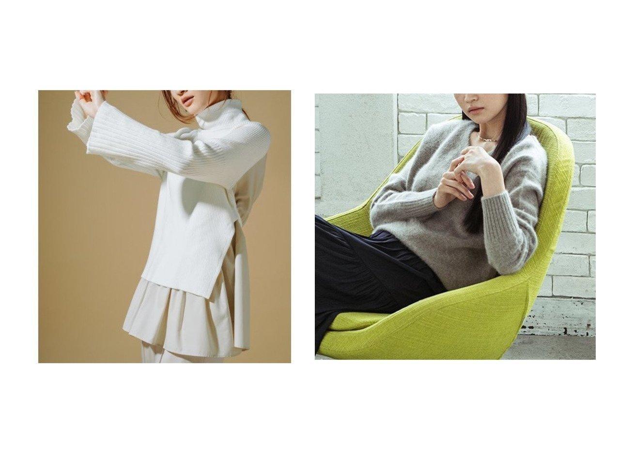 【LAUTRE AMONT/ロートレ アモン】のふんわりVネックニット《手洗い可能》&【CELFORD/セルフォード】のレイヤードニットプルオーバー トップス・カットソーのおすすめ!人気、レディースファッションの通販 おすすめで人気のファッション通販商品 インテリア・家具・キッズファッション・メンズファッション・レディースファッション・服の通販 founy(ファニー) https://founy.com/ ファッション Fashion レディース WOMEN トップス Tops Tshirt ニット Knit Tops プルオーバー Pullover Vネック V-Neck アクリル スタイリッシュ ストライプ スマート セーター パターン 無地 冬 Winter ラグジュアリー |ID:crp329100000002019