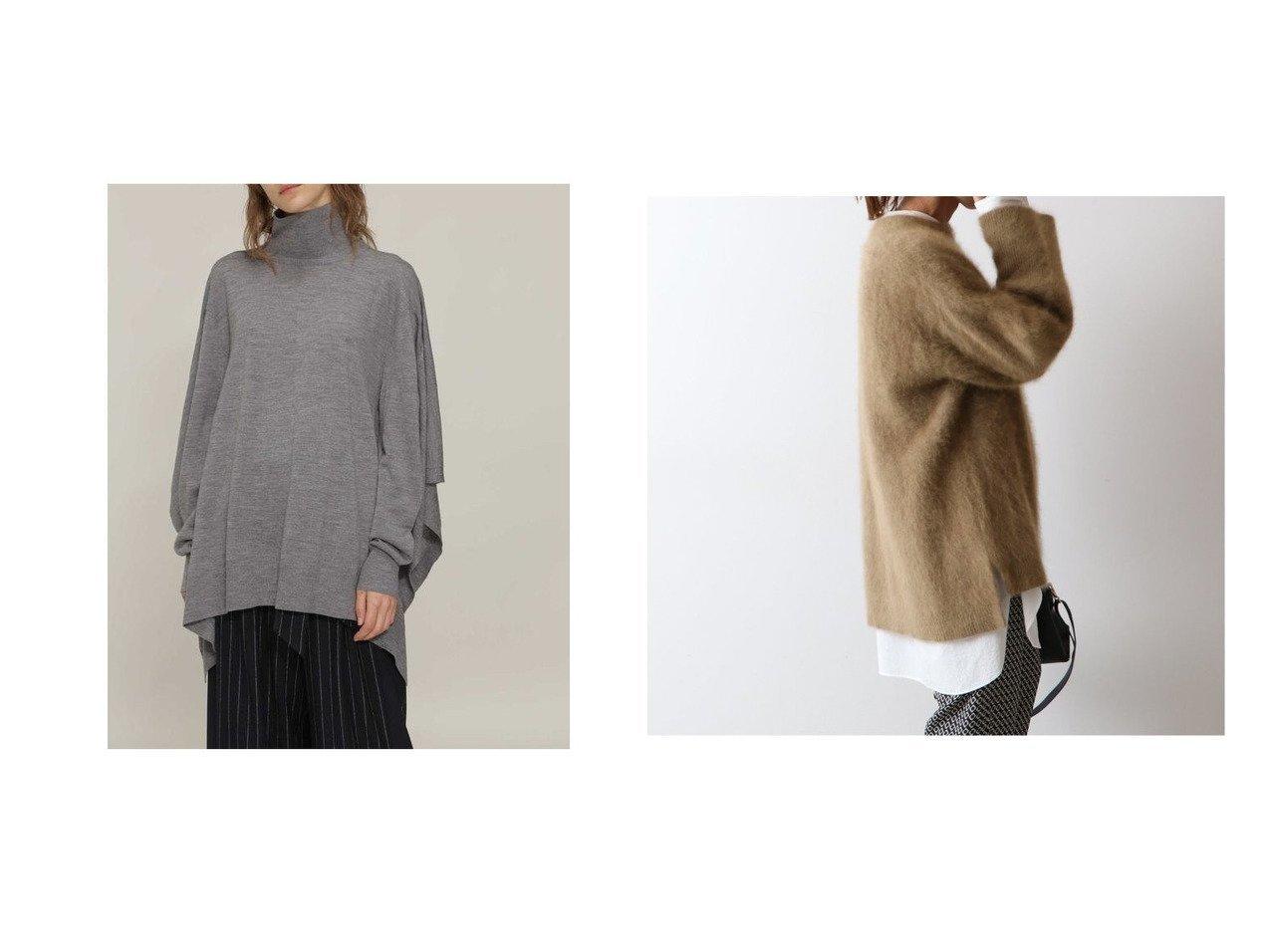 【FRAMeWORK/フレームワーク】のヘアリープルオーバー&【BOSCH/ボッシュ】のウールハイゲージニット トップス・カットソーのおすすめ!人気、レディースファッションの通販 おすすめで人気のファッション通販商品 インテリア・家具・キッズファッション・メンズファッション・レディースファッション・服の通販 founy(ファニー) https://founy.com/ ファッション Fashion レディース WOMEN トップス Tops Tshirt ニット Knit Tops プルオーバー Pullover インナー セーター バランス ポンチョ スタンド 秋冬 A/W Autumn/ Winter |ID:crp329100000002033