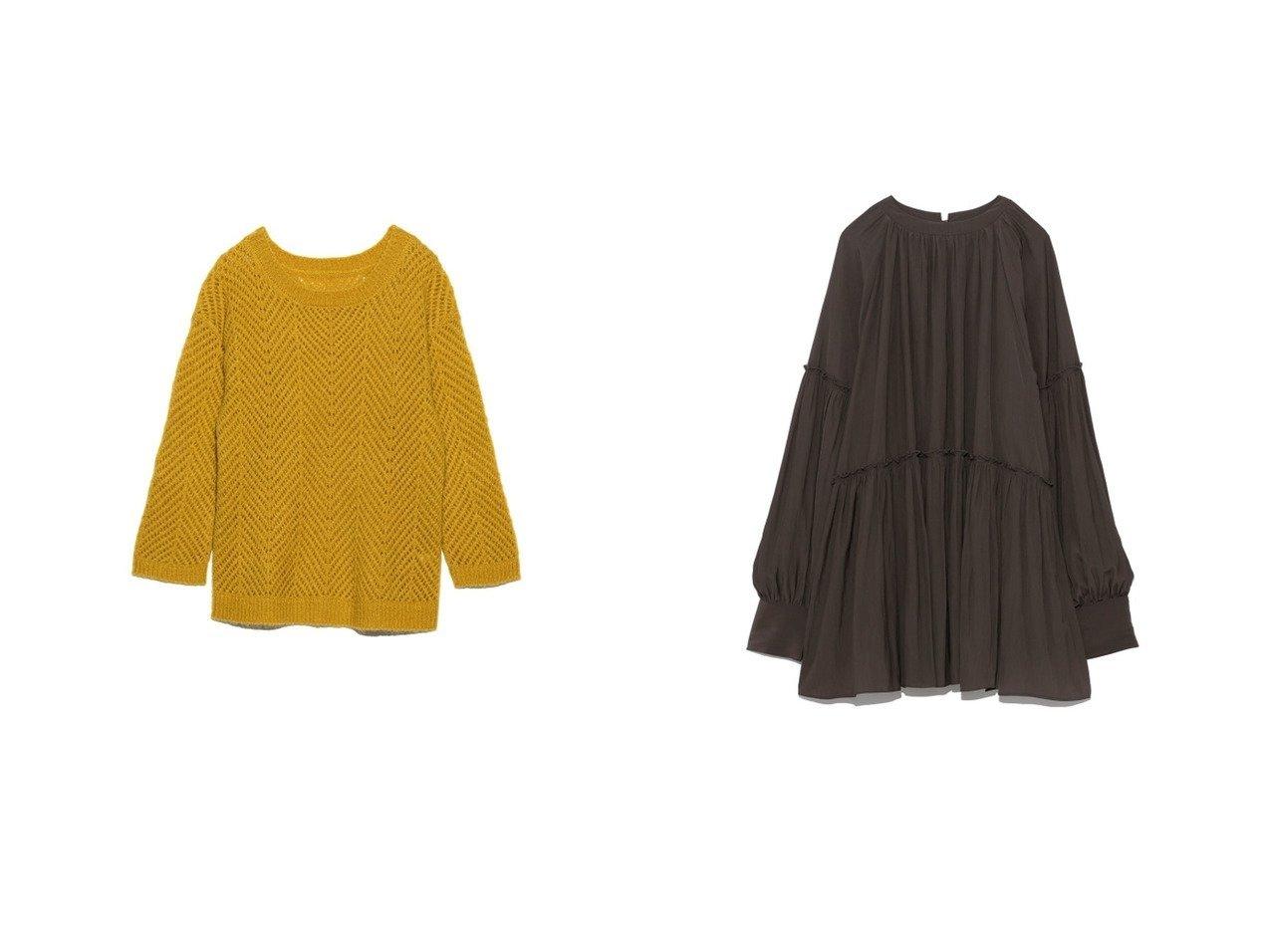 【Lily Brown/リリーブラウン】の透け編みニットトップス&【Mila Owen/ミラオーウェン】のハイネックギャザーチュニック トップス・カットソーのおすすめ!人気、レディースファッションの通販  おすすめで人気のファッション通販商品 インテリア・家具・キッズファッション・メンズファッション・レディースファッション・服の通販 founy(ファニー) https://founy.com/ ファッション Fashion レディース WOMEN トップス Tops Tshirt ニット Knit Tops イエロー モヘア ウォッシャブル オレンジ ギャザー クラシカル チュニック ハイネック |ID:crp329100000002075