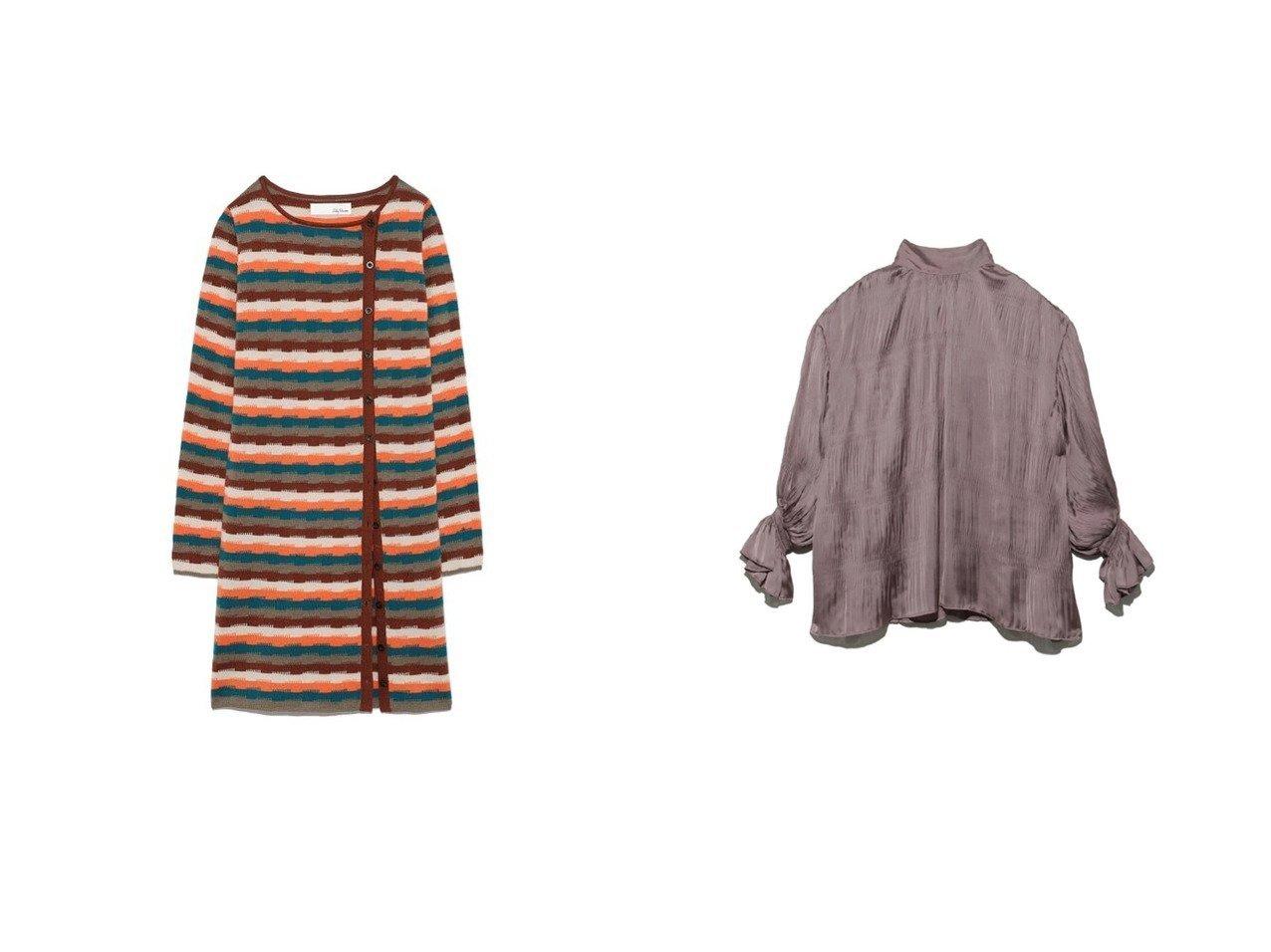 【SNIDEL/スナイデル】のプリーツフレアスリーブブラウス&【Lily Brown/リリーブラウン】のサイドボタンリブトップス トップス・カットソーのおすすめ!人気、レディースファッションの通販  おすすめで人気のファッション通販商品 インテリア・家具・キッズファッション・メンズファッション・レディースファッション・服の通販 founy(ファニー) https://founy.com/ ファッション Fashion レディース WOMEN トップス Tops Tshirt シャツ/ブラウス Shirts Blouses アクリル カーディガン スリット ボーダー ミックス ワイドリブ 冬 Winter インナー エレガント キャミソール サテン シアー シャーリング ドット リボン ワッシャー |ID:crp329100000002079