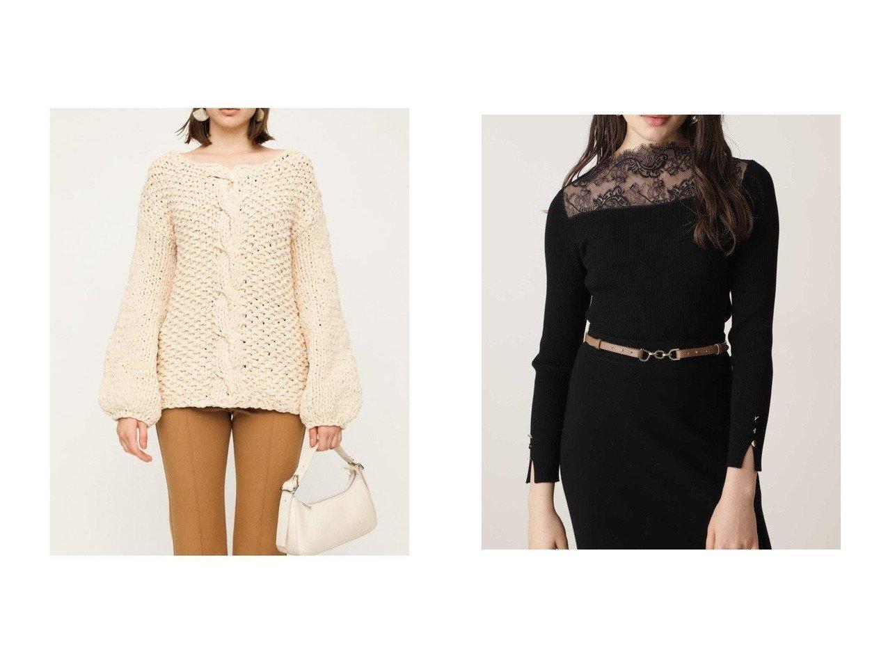 【SLY/スライ】のBIG MOLE YARN CABLE LG トップス&【Pinky&Dianne/ピンキーアンドダイアン】のシアーレースRIBトップス トップス・カットソーのおすすめ!人気、レディースファッションの通販  おすすめで人気のファッション通販商品 インテリア・家具・キッズファッション・メンズファッション・レディースファッション・服の通販 founy(ファニー) https://founy.com/ ファッション Fashion レディース WOMEN トップス Tops Tshirt ニット Knit Tops スリーブ ハンド ビッグ リラックス エレガント シアー ドッキング レース |ID:crp329100000002086