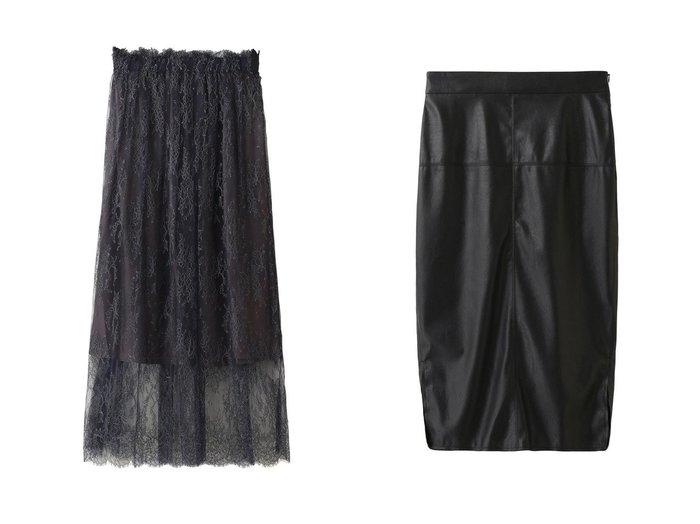 【Whim Gazette/ウィムガゼット】のドライレザータイトスカート&【THIRD MAGAZINE/サードマガジン】のインポートレースギャザースカート スカートのおすすめ!人気、レディースファッションの通販 おすすめファッション通販アイテム インテリア・キッズ・メンズ・レディースファッション・服の通販 founy(ファニー) https://founy.com/ ファッション Fashion レディース WOMEN スカート Skirt ロングスカート Long Skirt アクセサリー ギャザー ペチコート レース ロング  ID:crp329100000002168