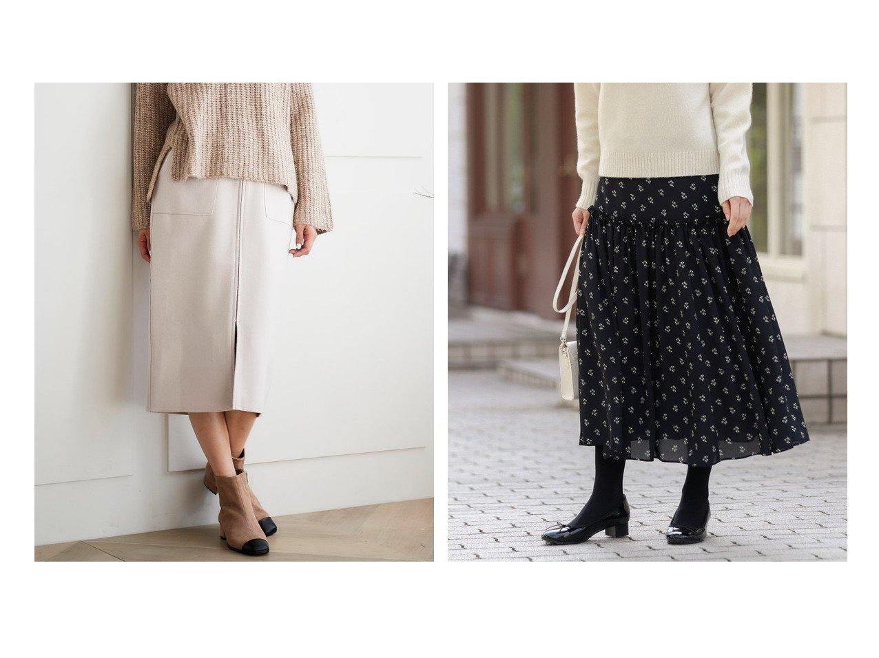 【MACKINTOSH PHILOSOPHY/マッキントッシュ フィロソフィー】のスノードロップスカート&【le.coeur blanc/ルクールブラン】のライトジャージメルトンフロントジップタイトスカート スカートのおすすめ!人気、レディースファッションの通販 おすすめファッション通販アイテム インテリア・キッズ・メンズ・レディースファッション・服の通販 founy(ファニー) ファッション Fashion レディース WOMEN スカート Skirt Aライン/フレアスカート Flared A-Line Skirts ギャザー 無地 シンプル スタイリッシュ タイトスカート パーカー フェミニン モダン 冬 Winter グレー系 Gray ブラウン系 Brown レッド系 Red |ID:crp329100000002176