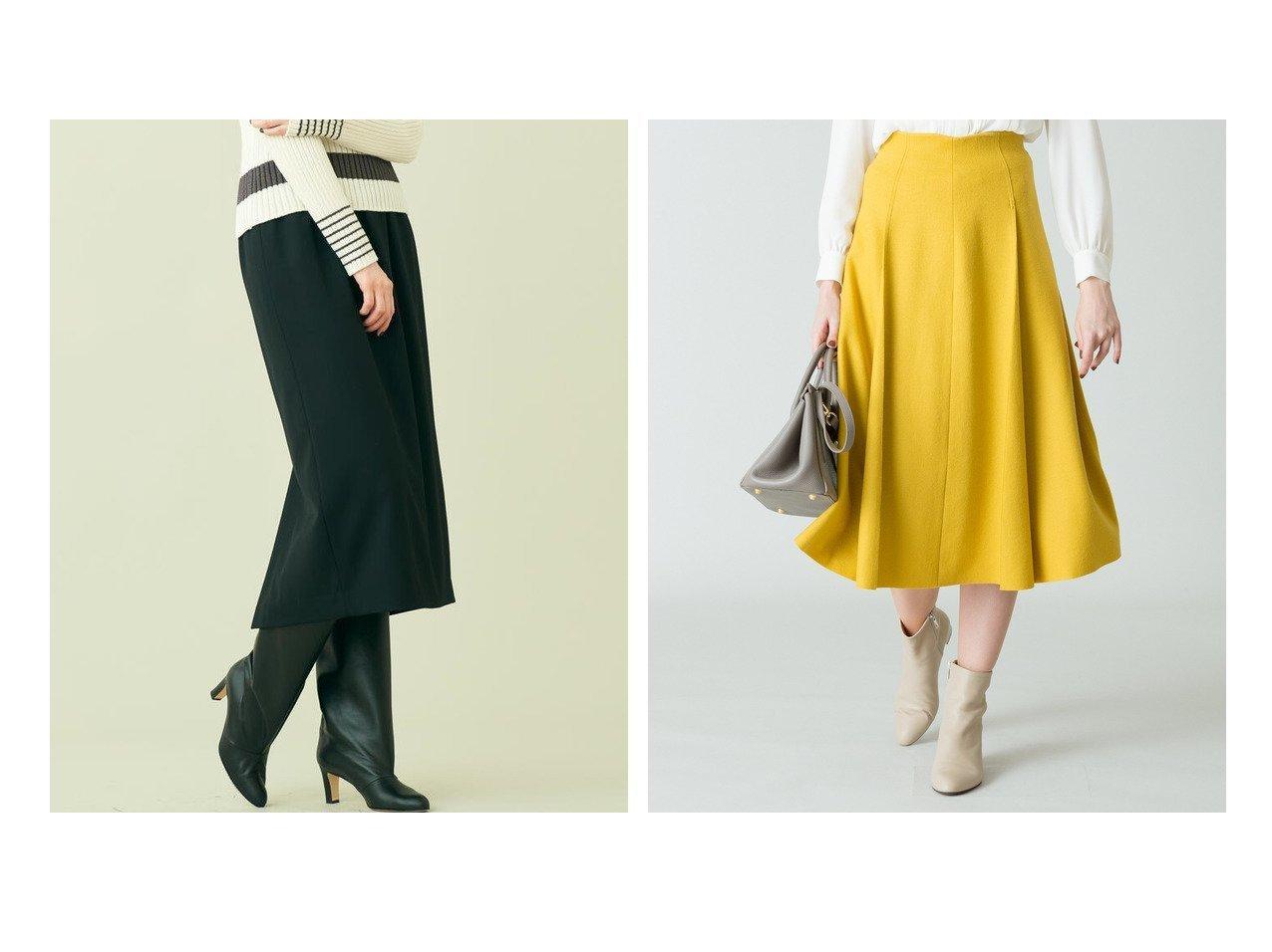 【allureville/アルアバイル】のツイルジャージカラースカート&【DES PRES / TOMORROWLAND/デプレ】のハイツイストウールギャバジン ウエストギャザーペンシルスカート スカートのおすすめ!人気、レディースファッションの通販 おすすめで人気のファッション通販商品 インテリア・家具・キッズファッション・メンズファッション・レディースファッション・服の通販 founy(ファニー) https://founy.com/ ファッション Fashion レディース WOMEN スカート Skirt Aライン/フレアスカート Flared A-Line Skirts 秋冬 A/W Autumn/ Winter ギャザー シンプル ストレッチ ストレート スリット タイトスカート トレンド バランス ロング 今季 フレア |ID:crp329100000002185