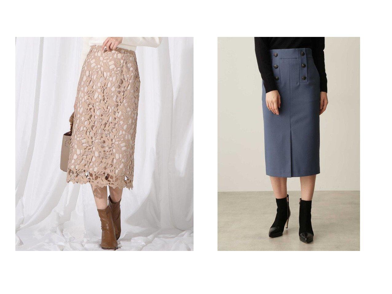 【QUEENS COURT/クイーンズ コート】のチューリップケミカルレースタイトスカート&【Pinky&Dianne/ピンキーアンドダイアン】のストレッチツイルダブルボタンスカート スカートのおすすめ!人気、レディースファッションの通販 おすすめで人気のファッション通販商品 インテリア・家具・キッズファッション・メンズファッション・レディースファッション・服の通販 founy(ファニー) https://founy.com/ ファッション Fashion レディース WOMEN スカート Skirt エレガント ガーリー タイトスカート フェミニン リュクス レース 無地 ダブル フロント ミモレ |ID:crp329100000002186