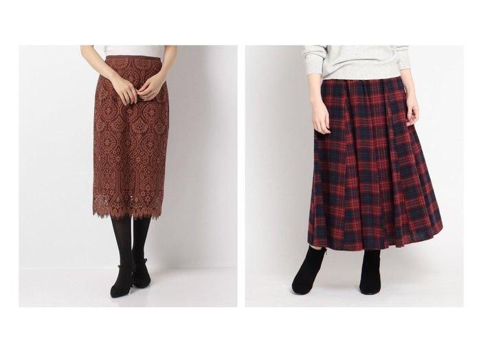 【Dessin/デッサン】のウール調ガーゼフレアスカート&【allureville/アルアバイル】の配色BIGモチーフレーススカート スカートのおすすめ!人気、レディースファッションの通販 おすすめファッション通販アイテム レディースファッション・服の通販 founy(ファニー) ファッション Fashion レディース WOMEN スカート Skirt Aライン/フレアスカート Flared A-Line Skirts タイトスカート モチーフ ラグジュアリー レース シンプル チェック フィット フェミニン フレア ポケット |ID:crp329100000002189