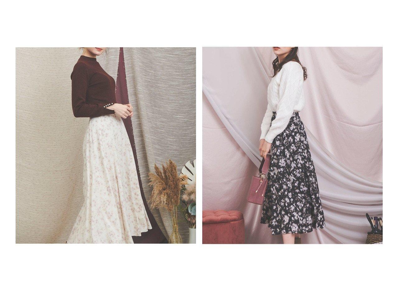 【Noela/ノエラ】のコンビフラワーロングスカート スカートのおすすめ!人気、レディースファッションの通販 おすすめで人気のファッション通販商品 インテリア・家具・キッズファッション・メンズファッション・レディースファッション・服の通販 founy(ファニー) https://founy.com/ ファッション Fashion レディース WOMEN スカート Skirt Aライン/フレアスカート Flared A-Line Skirts ロングスカート Long Skirt ギャザー ショート フレア ミックス ロング 冬 Winter |ID:crp329100000002193