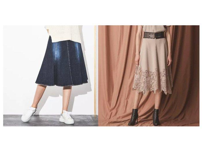 【EPOCA/エポカ】の【TWENTY FOUR DENIM】デニムフレアスカート&フラワーケミカルレーススカート スカートのおすすめ!人気、レディースファッションの通販 おすすめファッション通販アイテム インテリア・キッズ・メンズ・レディースファッション・服の通販 founy(ファニー) https://founy.com/ ファッション Fashion レディース WOMEN スカート Skirt Aライン/フレアスカート Flared A-Line Skirts ストレッチ デニム バランス フレアースカート ブリーチ マキシ ロング エレガント ケミカル コンパクト コンビ ジョーゼット フリンジ レース 秋冬 A/W Autumn/ Winter |ID:crp329100000002202