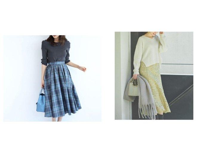 【JUSGLITTY/ジャスグリッティー】のチェックタフタスカート&【Noela/ノエラ】のソフトマーメイドレーススカート スカートのおすすめ!人気、レディースファッションの通販 おすすめファッション通販アイテム レディースファッション・服の通販 founy(ファニー) ファッション Fashion レディース WOMEN スカート Skirt クラシカル シンプル タフタ チェック トレンド フレア ミモレ マーメイド レース  ID:crp329100000002206