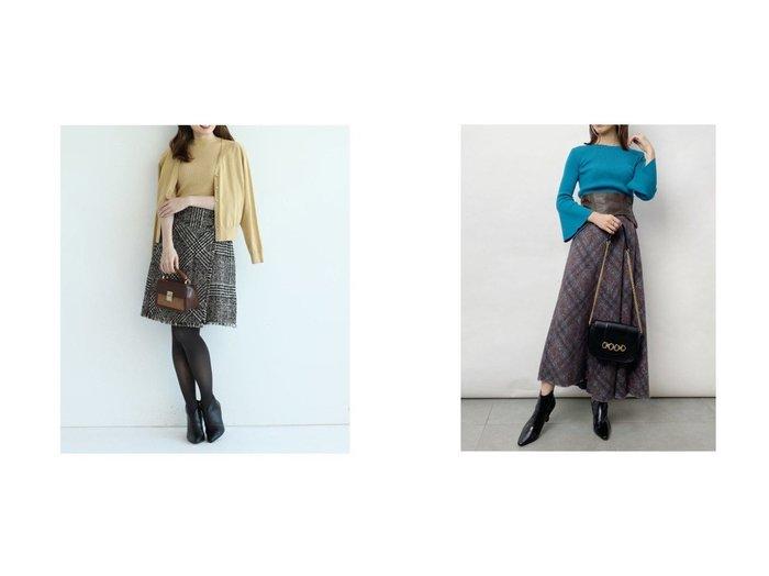 【Apuweiser-riche/アプワイザーリッシェ】のツイードチェック台形スカート&【SNIDEL/スナイデル】のアシメントリーデザインスカート スカートのおすすめ!人気、レディースファッションの通販 おすすめファッション通販アイテム インテリア・キッズ・メンズ・レディースファッション・服の通販 founy(ファニー) https://founy.com/ ファッションモデル・俳優・女優 Models 女性 Women 田中みな実 Tanaka Minami ファッション Fashion レディース WOMEN スカート Skirt 台形スカート Trapezoid Skirt アンティーク クラシカル チェック ツイード フリンジ 台形 アクリル アシンメトリー エレガント オレンジ バランス フレア 秋冬 A/W Autumn/ Winter |ID:crp329100000002210