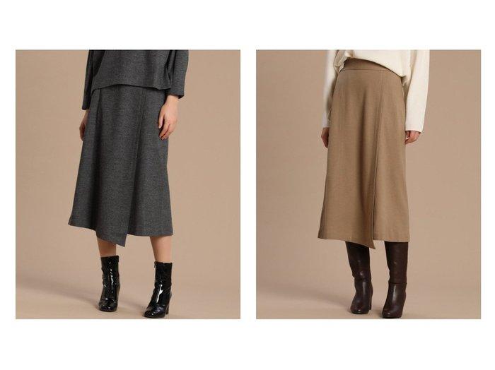 【INED/イネド】のウールジャージースカート スカートのおすすめ!人気、レディースファッションの通販 おすすめファッション通販アイテム レディースファッション・服の通販 founy(ファニー) ファッション Fashion レディース WOMEN スカート Skirt 台形スカート Trapezoid Skirt アシンメトリー ジャージー セットアップ ドレープ フィット フロント ラップ 台形 |ID:crp329100000002228