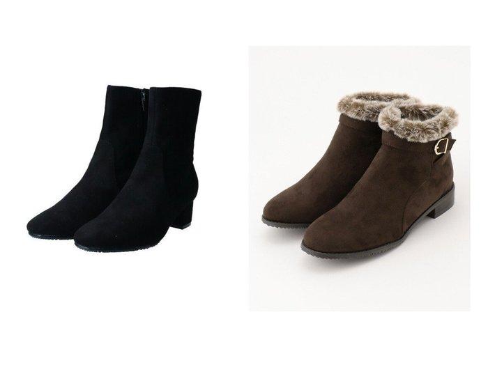 【any FAM/エニィファム】の撥水スエードボア ショートブーツ&【Bridget Birkin/ブリジット バーキン】の【Bridget Birkin】スリムショートブーツ シューズ・靴のおすすめ!人気、レディースファッションの通販 おすすめファッション通販アイテム レディースファッション・服の通販 founy(ファニー) ファッション Fashion レディース WOMEN ショート スエード 冬 Winter 抗菌 |ID:crp329100000002239