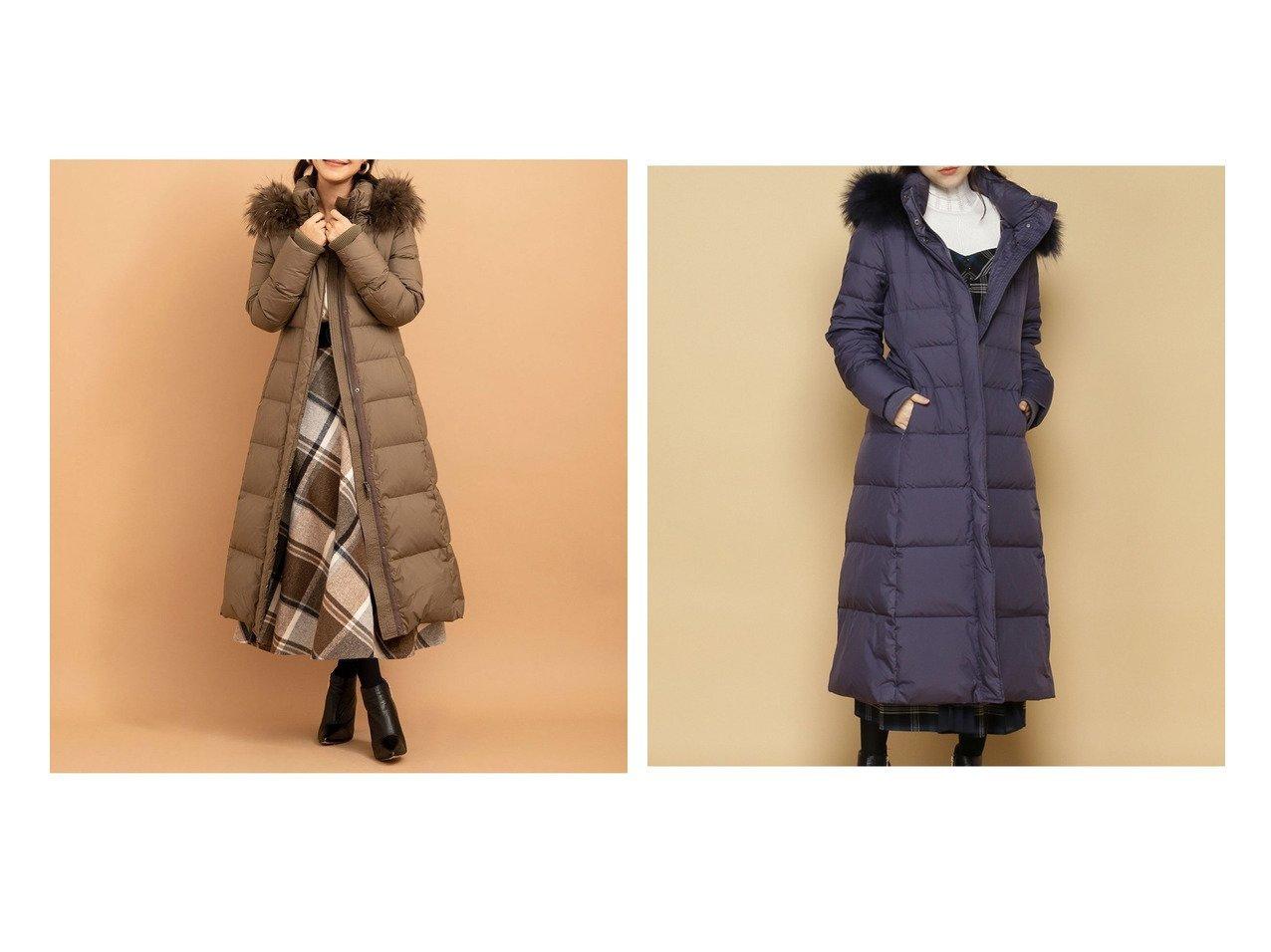 【And Couture/アンドクチュール】のスーパーロングダウンコート アウターのおすすめ!人気、レディースファッションの通販  おすすめで人気のファッション通販商品 インテリア・家具・キッズファッション・メンズファッション・レディースファッション・服の通販 founy(ファニー) https://founy.com/ ファッション Fashion レディース WOMEN アウター Coat Outerwear コート Coats ダウン Down Coats And Jackets ダウン パターン フォックス 防寒 |ID:crp329100000002315