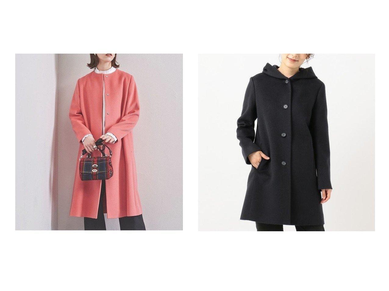 【UNITED ARROWS/ユナイテッドアローズ】のCA ベルライン コート†&【J.PRESS/ジェイ プレス】のアンゴラビーバー フーデッドコート アウターのおすすめ!人気、レディースファッションの通販  おすすめで人気のファッション通販商品 インテリア・家具・キッズファッション・メンズファッション・レディースファッション・服の通販 founy(ファニー) https://founy.com/ ファッション Fashion レディース WOMEN アウター Coat Outerwear コート Coats インナー ロング 防寒 アンゴラ ボトム |ID:crp329100000002333