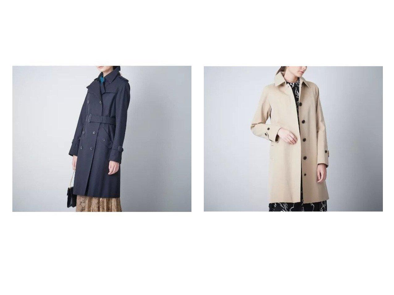 【SANYO/サンヨー】のバルマカーンコート(三陽格子)&ダブルトレンチコート(三陽格子) アウターのおすすめ!人気、レディースファッションの通販  おすすめで人気のファッション通販商品 インテリア・家具・キッズファッション・メンズファッション・レディースファッション・服の通販 founy(ファニー) https://founy.com/ ファッション Fashion レディース WOMEN アウター Coat Outerwear コート Coats トレンチコート Trench Coats エレガント スタンダード ダブル プリーツ ポケット ライナー フロント ループ |ID:crp329100000002349