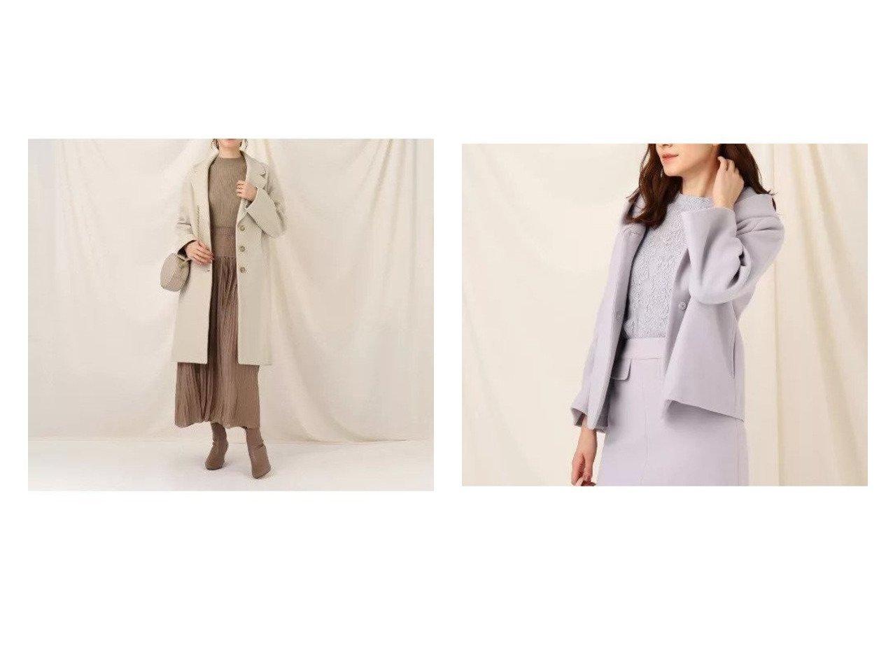【Couture Brooch/クチュール ブローチ】のメルジャージショートコート&メルジャージチェスターコート アウターのおすすめ!人気、レディースファッションの通販  おすすめで人気のファッション通販商品 インテリア・家具・キッズファッション・メンズファッション・レディースファッション・服の通販 founy(ファニー) https://founy.com/ ファッション Fashion レディース WOMEN アウター Coat Outerwear コート Coats チェスターコート Top Coat Pコート Pea Coats ショルダー スタイリッシュ ストレート チェスターコート トレンド ドロップ フォルム マキシ ロング なめらか シンプル ボトム メルトン 人気 |ID:crp329100000002351