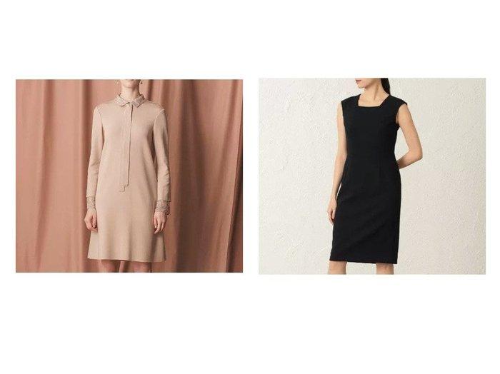 【EPOCA/エポカ】の【24 TWENTY FOUR Noble】 ドレス&ハニーレースドレス ワンピース・ドレスのおすすめ!人気、レディースファッションの通販 おすすめファッション通販アイテム レディースファッション・服の通販 founy(ファニー) ファッション Fashion レディース WOMEN ワンピース Dress ドレス Party Dresses クラシック ストレッチ ドレス ドレープ フォーマル リボン 定番 ジャケット スクエア フォルム 春 秋 |ID:crp329100000002460