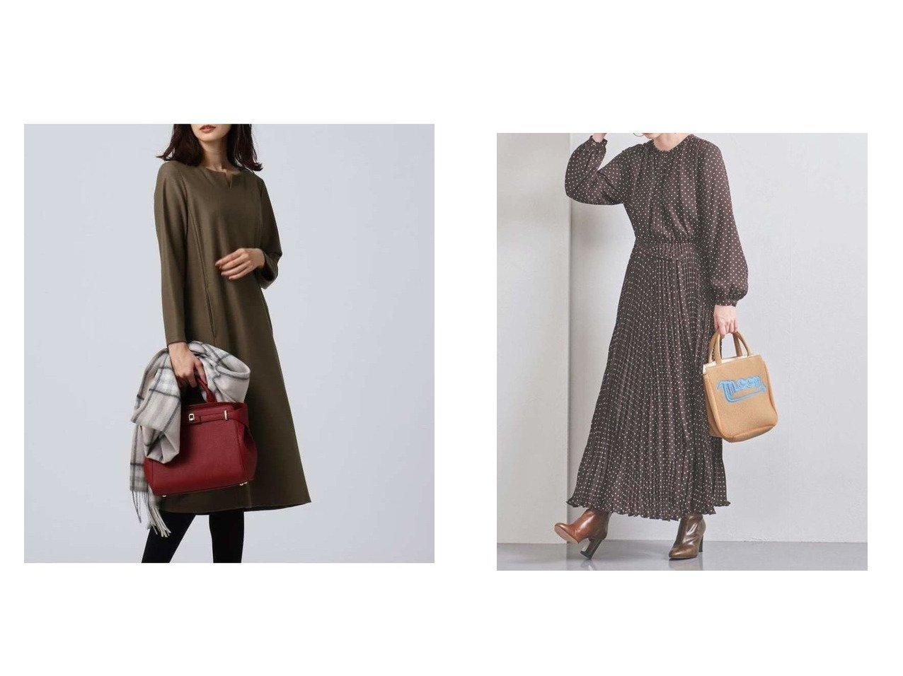 【UNTITLED/アンタイトル】のウールジャージキーネックワンピース&【UNITED ARROWS/ユナイテッドアローズ】のUWFM ドット プリーツ マキシワンピース ワンピース・ドレスのおすすめ!人気、レディースファッションの通販 おすすめで人気のファッション通販商品 インテリア・家具・キッズファッション・メンズファッション・レディースファッション・服の通販 founy(ファニー) https://founy.com/ ファッション Fashion レディース WOMEN ワンピース Dress トップス Tops Tshirt シャツ/ブラウス Shirts Blouses シャツワンピース Shirt Dresses マキシワンピース Maxi Dress シンプル クラシカル サテン ドット プリーツ マキシ ランダム リボン |ID:crp329100000002474