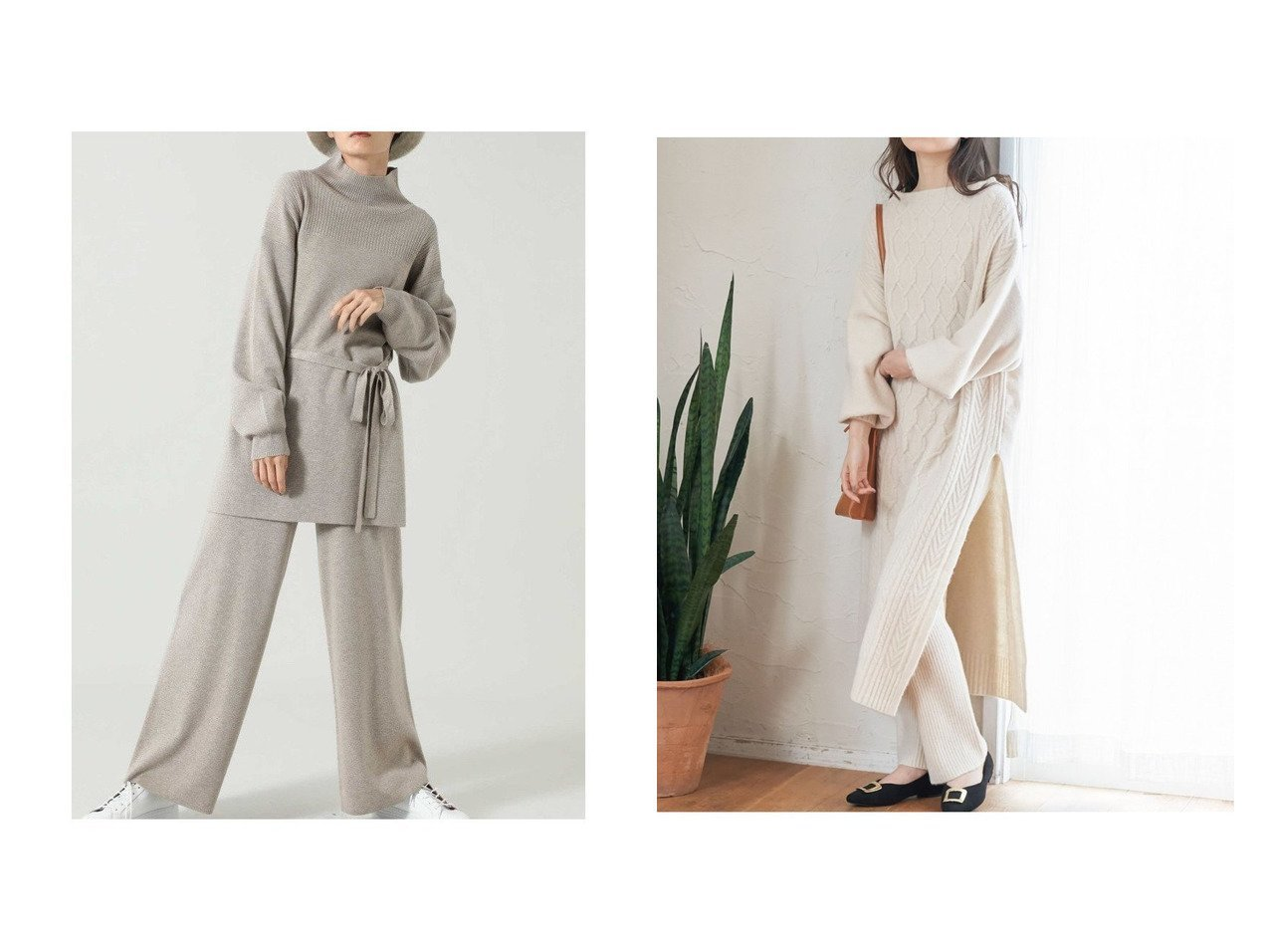 【VIS/ビス】の【SET】ケーブルリブパンツ付きワンピース&【ROSE BUD/ローズバッド】のニットセットアップ ワンピース・ドレスのおすすめ!人気、レディースファッションの通販 おすすめで人気のファッション通販商品 インテリア・家具・キッズファッション・メンズファッション・レディースファッション・服の通販 founy(ファニー) https://founy.com/ ファッション Fashion レディース WOMEN ワンピース Dress カーディガン スリット セットアップ チュニック デニム トレンド パープル フィット プリーツ ベーシック ボトルネック 定番 リラックス  ID:crp329100000002475