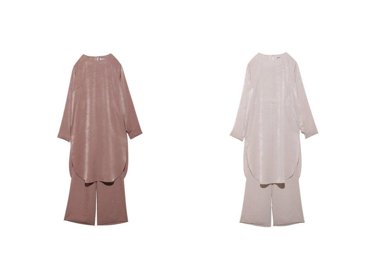 【SNIDEL/スナイデル】のサテンセットアップ ワンピース・ドレスのおすすめ!人気、レディースファッションの通販 おすすめで人気のファッション通販商品 インテリア・家具・キッズファッション・メンズファッション・レディースファッション・服の通販 founy(ファニー) https://founy.com/ ファッション Fashion レディース WOMEN セットアップ Setup ヴィンテージ サテン シンプル スウェード セットアップ チュニック バランス リラックス |ID:crp329100000002486