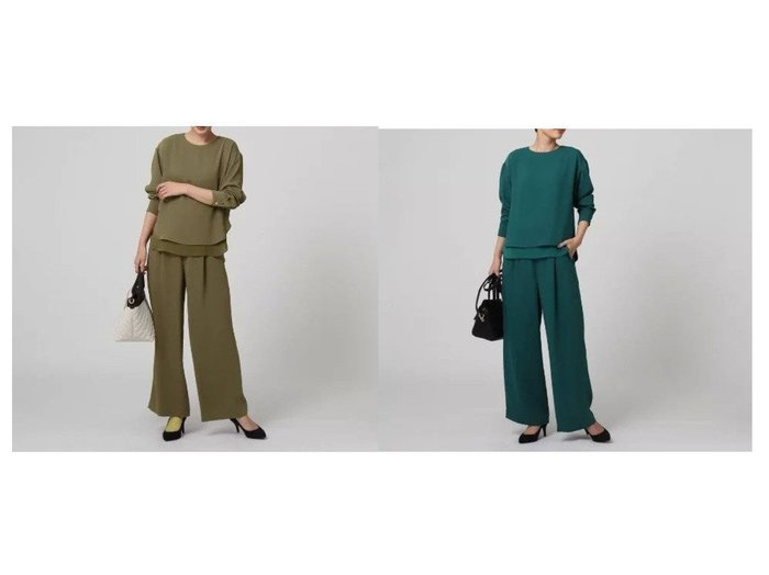 【UNTITLED/アンタイトル】のリーンラインベネ セットアップ ワンピース・ドレスのおすすめ!人気、レディースファッションの通販 おすすめファッション通販アイテム レディースファッション・服の通販 founy(ファニー) ファッション Fashion レディース WOMEN セットアップ Setup シンプル ストレート セットアップ ワイド |ID:crp329100000002487