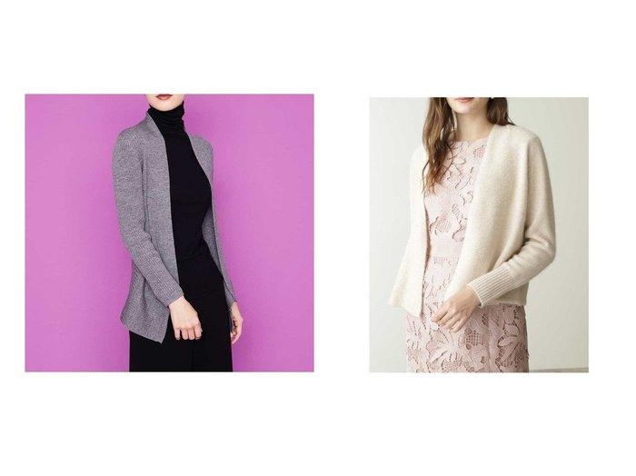 【Pinky&Dianne/ピンキーアンドダイアン】のフェアリーショートカーデ&【SYBILLA/シビラ】のデザインヘムウールニットカーディガン トップス・カットソーのおすすめ!人気、レディースファッションの通販 おすすめファッション通販アイテム レディースファッション・服の通販 founy(ファニー) ファッション Fashion レディース WOMEN トップス Tops Tshirt カーディガン Cardigans ニット Knit Tops カーディガン ノースリーブ フロント 羽織 エレガント ジャケット ドレープ フィット  ID:crp329100000002522