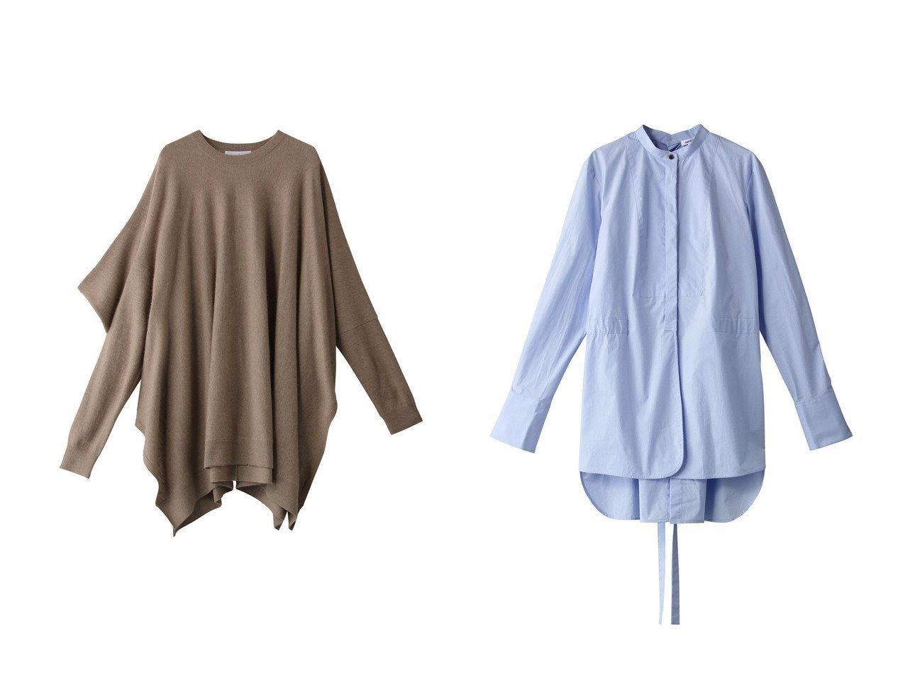 【ENFOLD/エンフォルド】のハイカウントタイプライター スタンドCロングシャツ&Racoon Wool アシンメケーププルオーバー トップス・カットソーのおすすめ!人気、レディースファッションの通販 おすすめで人気のファッション通販商品 インテリア・家具・キッズファッション・メンズファッション・レディースファッション・服の通販 founy(ファニー) https://founy.com/ ファッション Fashion レディース WOMEN トップス Tops Tshirt ニット Knit Tops プルオーバー Pullover シャツ/ブラウス Shirts Blouses アシンメトリー スリーブ ドレープ 定番 シェイプ シンプル スタンド ロング |ID:crp329100000002573