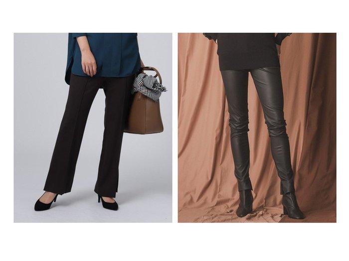 【EPOCA/エポカ】のマットコーティングスキニーパンツ&【UNTITLED/アンタイトル】の【洗える】アモーレカルゼジャージパンツ パンツのおすすめ!人気、レディースファッションの通販 おすすめファッション通販アイテム レディースファッション・服の通販 founy(ファニー) ファッション Fashion レディース WOMEN パンツ Pants ストレッチ フレア ポケット リラックス フィット |ID:crp329100000002601