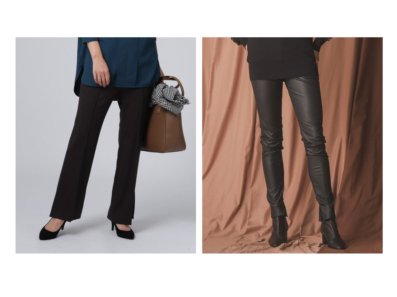 【EPOCA/エポカ】のマットコーティングスキニーパンツ&【UNTITLED/アンタイトル】の【洗える】アモーレカルゼジャージパンツ パンツのおすすめ!人気、レディースファッションの通販 おすすめで人気のファッション通販商品 インテリア・家具・キッズファッション・メンズファッション・レディースファッション・服の通販 founy(ファニー) https://founy.com/ ファッション Fashion レディース WOMEN パンツ Pants ストレッチ フレア ポケット リラックス フィット |ID:crp329100000002601