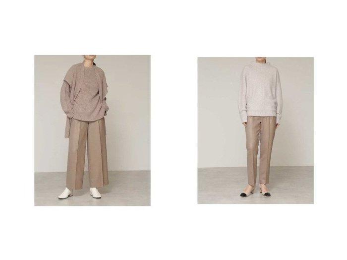 【BOSCH/ボッシュ】のツィルツィードテーパードパンツ&ツィルツィードワイドパンツ パンツのおすすめ!人気、レディースファッションの通販 おすすめファッション通販アイテム レディースファッション・服の通販 founy(ファニー) ファッション Fashion レディース WOMEN パンツ Pants センター ツイル ベーシック マニッシュ |ID:crp329100000002612