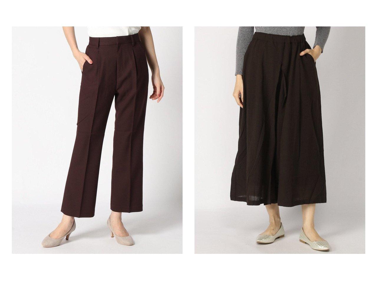 【LOWRYS FARM/ローリーズファーム】のLANATECフレアパンツ&【studio CLIP/スタディオ クリップ】のNA-ガーゼスカートパンツ パンツのおすすめ!人気、レディースファッションの通販 おすすめで人気のファッション通販商品 インテリア・家具・キッズファッション・メンズファッション・レディースファッション・服の通販 founy(ファニー) https://founy.com/ ファッション Fashion レディース WOMEN パンツ Pants スカート Skirt ジーンズ ストレッチ チェック フレア |ID:crp329100000002633