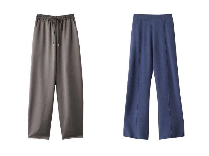 【ROSE BUD/ローズバッド】のスリット入りニットパンツ&【MIDIUMISOLID/ミディウミソリッド】のwide cocoon satin pants パンツのおすすめ!人気、レディースファッションの通販 おすすめファッション通販アイテム インテリア・キッズ・メンズ・レディースファッション・服の通販 founy(ファニー) https://founy.com/ ファッション Fashion レディース WOMEN パンツ Pants サテン ビッグ シンプル スリット |ID:crp329100000002641