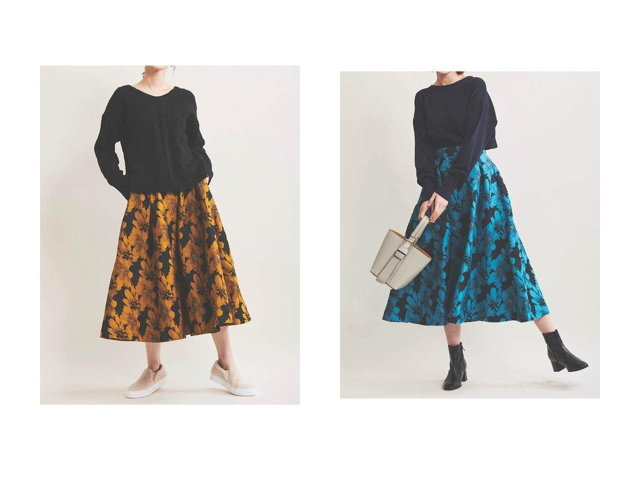 【The Virgnia/ザ ヴァージニア】のフラワージャガードフレアスカート スカートのおすすめ!人気、レディースファッションの通販 おすすめで人気のファッション通販商品 インテリア・家具・キッズファッション・メンズファッション・レディースファッション・服の通販 founy(ファニー) https://founy.com/ ファッション Fashion レディース WOMEN スカート Skirt Aライン/フレアスカート Flared A-Line Skirts ロングスカート Long Skirt シンプル フレア ロング 冬 Winter |ID:crp329100000002655
