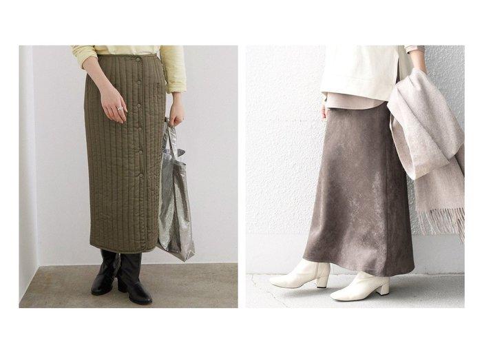【SHIPS/シップス フォー ウィメン】のカラーフェイクスエードスカート&【ROPE' mademoiselle/ロペ マドモアゼル】のキルティングフロントボタンラップスカート スカートのおすすめ!人気、レディースファッションの通販 おすすめファッション通販アイテム レディースファッション・服の通販 founy(ファニー) ファッション Fashion レディース WOMEN スカート Skirt アクセサリー キルティング サテン シャイニー フォルム ベーシック ミリタリー ジャージー ストレッチ ドレープ フェイクスエード リアル ロング 冬 Winter 春 |ID:crp329100000002662