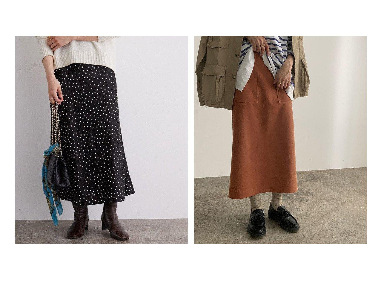 【ROPE' mademoiselle/ロペ マドモアゼル】のドットサテンロングスカート&ストレッチフェイクスエードタイトスカート スカートのおすすめ!人気、レディースファッションの通販 おすすめで人気のファッション通販商品 インテリア・家具・キッズファッション・メンズファッション・レディースファッション・服の通販 founy(ファニー) https://founy.com/ ファッション Fashion レディース WOMEN スカート Skirt ロングスカート Long Skirt サテン ショート ドット バイアス フェミニン プリント マーメイド ミドル ランダム 春 秋 コンパクト ストレッチ ストレート スニーカー フェイクスエード ポケット 冬 Winter |ID:crp329100000002668