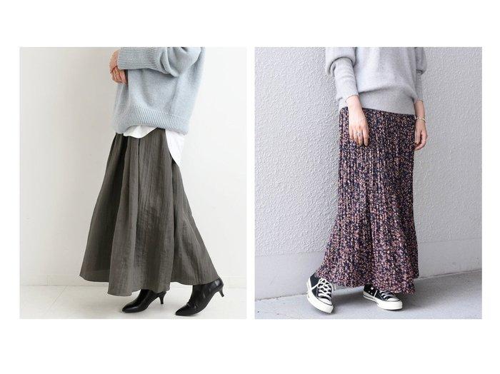 【SHIPS any/シップス エニィ】のSHIPS any ドット フラワー プリーツスカート&【IENA/イエナ】のサテンワッシャータックスカート スカートのおすすめ!人気、レディースファッションの通販 おすすめファッション通販アイテム インテリア・キッズ・メンズ・レディースファッション・服の通販 founy(ファニー) https://founy.com/ ファッション Fashion レディース WOMEN スカート Skirt プリーツスカート Pleated Skirts 秋冬 A/W Autumn/ Winter サテン ロング くるぶし スウェット ドット なめらか バランス ピーチ フラワー プリント プリーツ マキシ ルーズ |ID:crp329100000002669