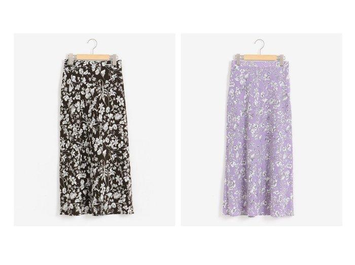 【le.coeur blanc/ルクールブラン】のラインフラワープリントバイアススカート スカートのおすすめ!人気、レディースファッションの通販 おすすめファッション通販アイテム レディースファッション・服の通販 founy(ファニー) ファッション Fashion レディース WOMEN スカート Skirt フラワー フレア プリント |ID:crp329100000002675