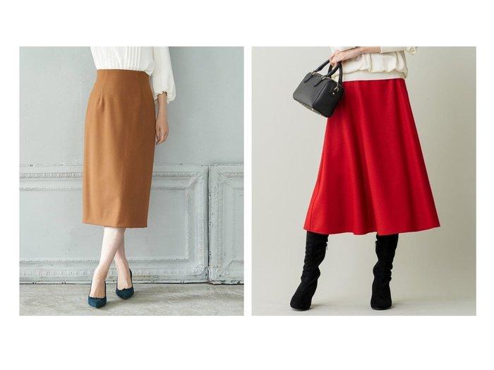 【KUMIKYOKU/組曲】のウールソフトジョーゼット フレアスカート&【ANAYI/アナイ】の【セットアップ対応商品】プレミアムストレッチタイトスカート(ベルト付き) スカートのおすすめ!人気、レディースファッションの通販 おすすめファッション通販アイテム レディースファッション・服の通販 founy(ファニー) ファッション Fashion レディース WOMEN セットアップ Setup スカート Skirt ベルト Belts スカート Skirt Aライン/フレアスカート Flared A-Line Skirts オケージョン ジャケット スマート スリット セットアップ タイトスカート キュロット ジョーゼット ドレープ ファブリック フレア ミモレ 秋冬 A/W Autumn/ Winter |ID:crp329100000002682